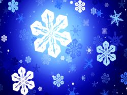 Making snowflakes at Christmas Wallpaper