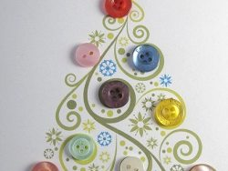 How to make decorations with Buttons for the Christmas tree