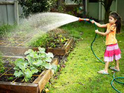 How to integrate children in the care of the garden
