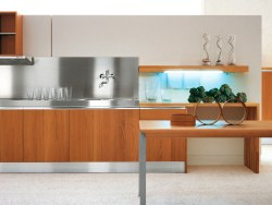 Stainless steel countertops, Corian and Silestone